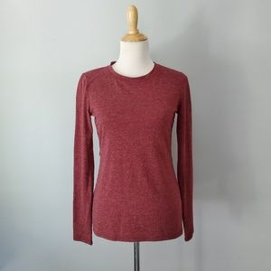 1. State Red Long Sleeve Cut Out Top Size Small